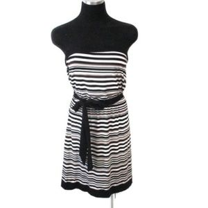 White House Black Market Strapless Stripe Dress S